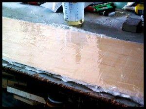 Pegando molde de tabla